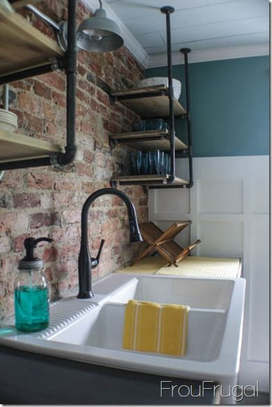 Kitchen Makeover The Reveal Industrial Open Shelving