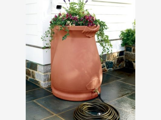 Rain Barrel Urn - Home and Garden Design Ideas