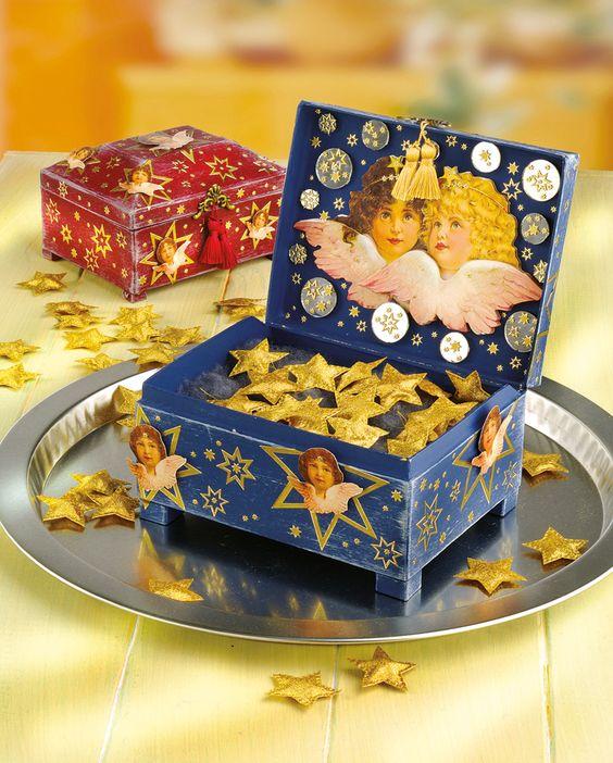 Schatztruhe basteln - Weihnachten - Geschenke & Co.