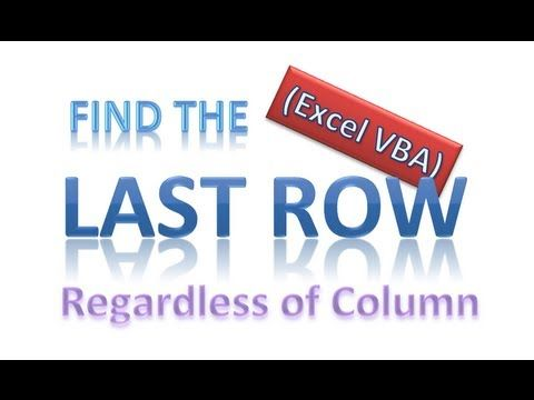 How To Get The Last Row Number In Excel Vba