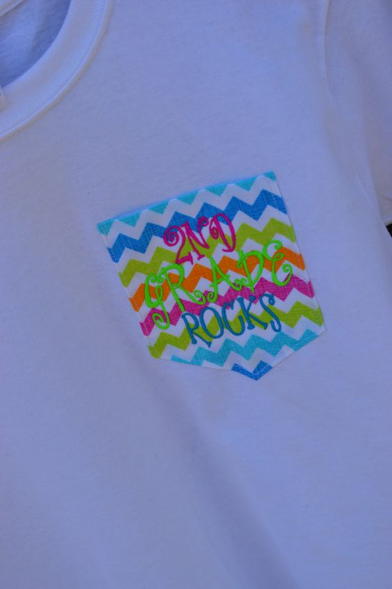 Youth Chevron Patterned Pocket Tee  Short by embellishboutiquellc, $22.00
