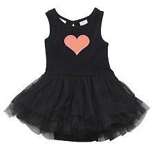 amy coe Girls Black Heart Sleeveless Tutu Creeper