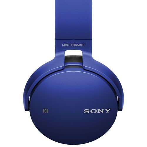 Sony Over Ear Sound Isolating Wireless Headphones With Mic Mdrxb650bt L Blue Headphone With Mic Wireless Headphones Wireless Headphones With Mic