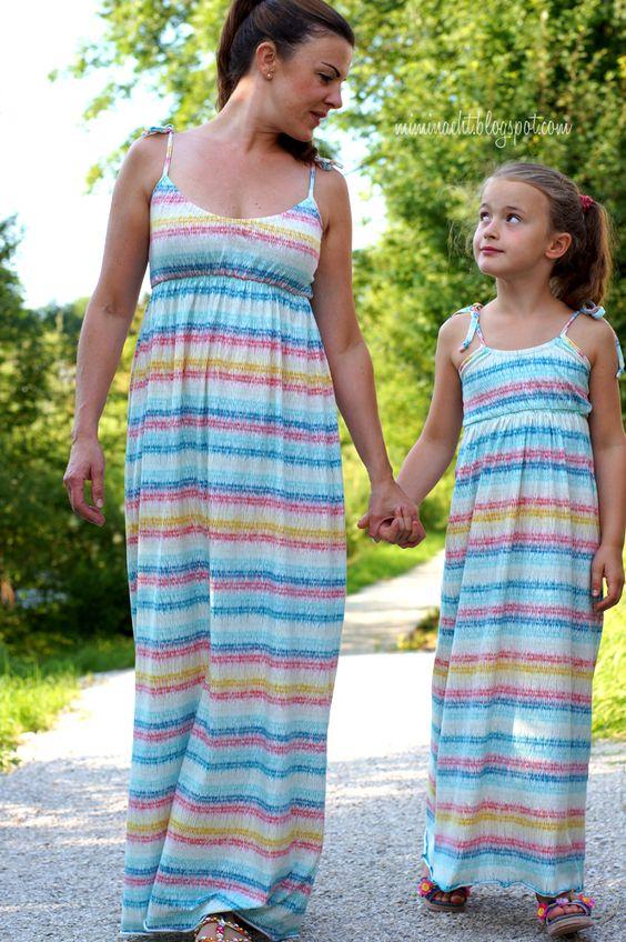 lillesol & pelle Schnittmuster/ pattern: Maxikleid / Maxi dress