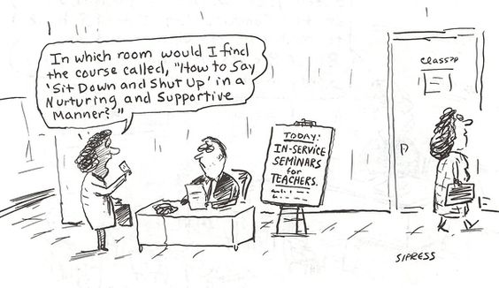Teacher In-services we could really use :)
