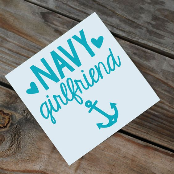 Navy Girlfriend/Wife/Mom Car Decal by Rebecca Lane Graphics on Etsy!