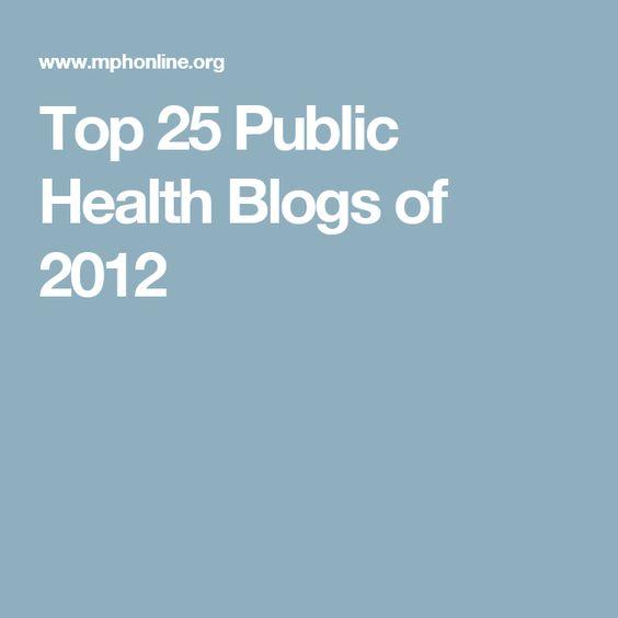 Top 25 Public Health Blogs of 2012