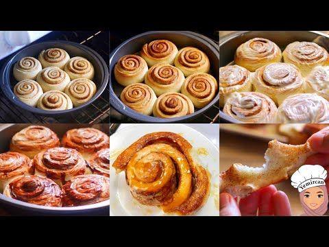 لن تشتروا سينابون جاهز بعد تطبيقكم هذه الطريقة Cinnamon Rolls A Must Try Youtube Desserts Food Breakfast