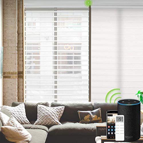 Buy Yoolax Motorized Window Blinds Shangri La Sheer Shades Light