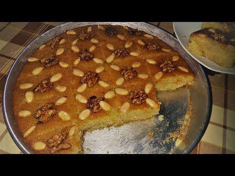هريسة سورية بطريقة سهلة و لا ألذ Youtube Dessert Recipes Recipes Arabic Sweets