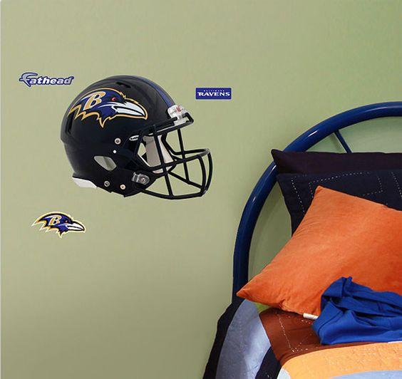 nfl baltimore helmet wall sticker 3pc ravens football