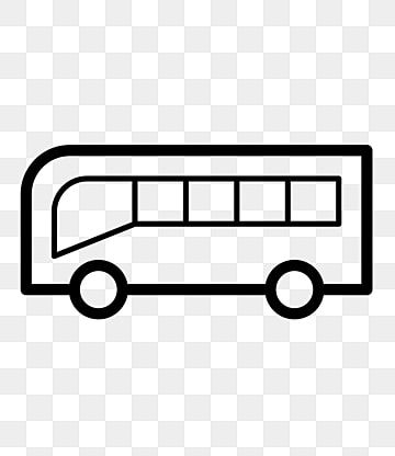 Bus Cartoon Icon Positive Bus Car Black Line Drawing Png Transparent Clipart Image And Psd File For Free Download Bus Cartoon Line Drawing Clip Art