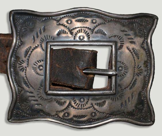 Silver Navajo Buckle: