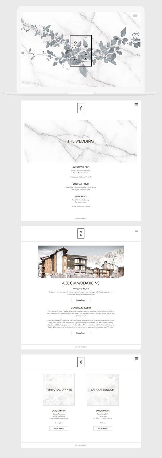 Carrara Vineyard Event + Wedding Website / Marble / Modern / Neutral / Minimal / Black & White / Customizable
