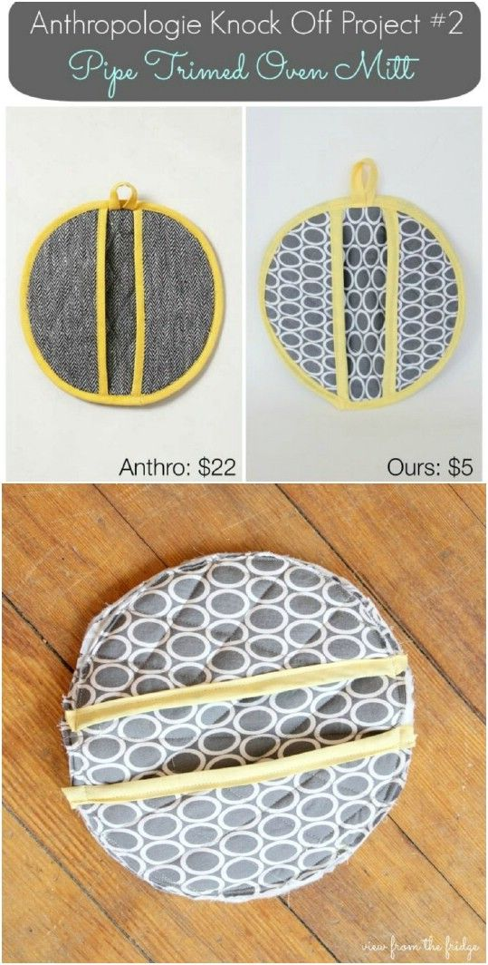 20 Easy Diy Pot Holders And Oven Mitts You Need In Your Kitchen