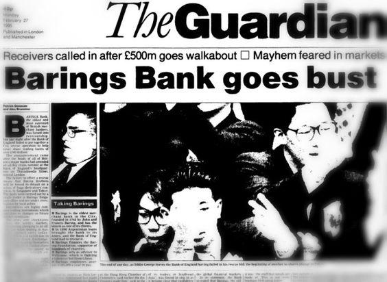 Barings Bank vakası. Barings Bank neden battı. Nicholas William Leeson.