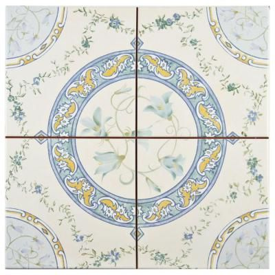 Merola Tile Victorian Rian 13 in. x 13 in. Ceramic Floor and Wall Tile (12.3 sq. ft. / case)-FPEVRIAN - The Home Depot