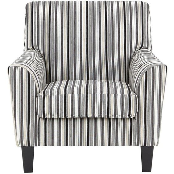 Incroyable Rimini Striped Fabric Accent Chair ❤ Liked On Polyvore Featuring Home,  Furniture, Chairs, Accent Chairs, Fabric Arm Chair, Colored Chairs, Fabric  Chairs, ...