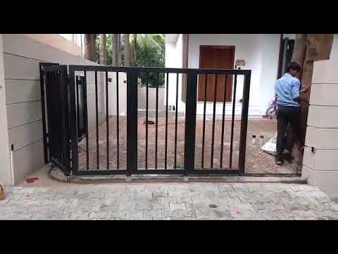 Automatic Curve Sliding Gate Youtube Sliding Gate Automatic Sliding Gate House Gate Design