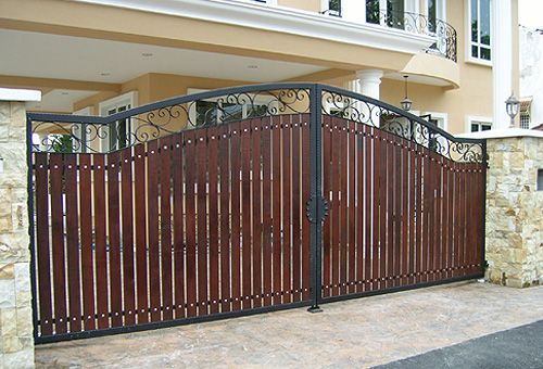 Iron gates iron doors and malaysia on pinterest for Door design malaysia