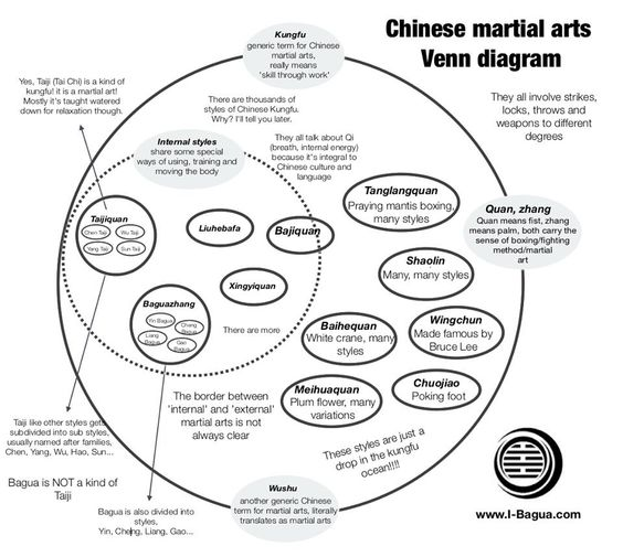 chinese martial arts venn diagram