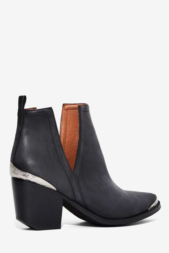 Jeffrey Campbell Cromwell Distressed Leather Boot - Boots + Booties | Back In Stock | Back In Stock | Jeffrey Campbell