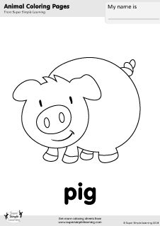 Galerry esl animal coloring sheets