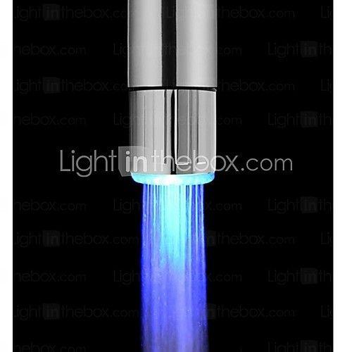 elegante azul cocina alimentada agua sin baterías de luz LED grifo - USD $2.99
