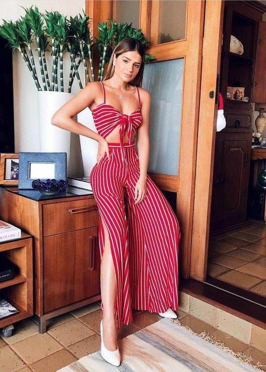 Looks com Calças listradas Looks Inspiradores Com Calça Listrada, palazzo pants, calça listrada, looks calça listrada, outfit striped pants, looks calça listrada, calça listrada, look com calça listrada, looks calca de listras, calça listra