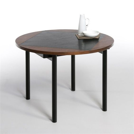 Table rallonges design cr ateur studio pool bensimon prix avis no - La redoute table ronde ...