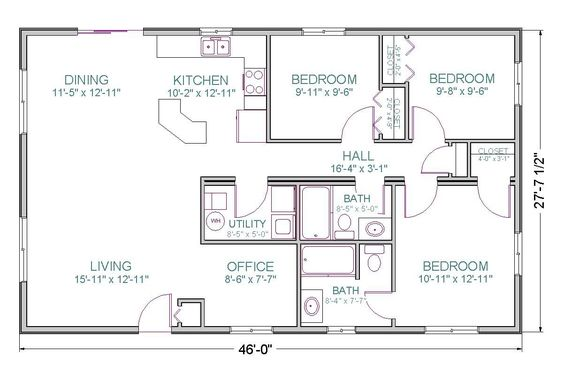 Ranch Style Floor Plans And Open Floor Plans On Pinterest