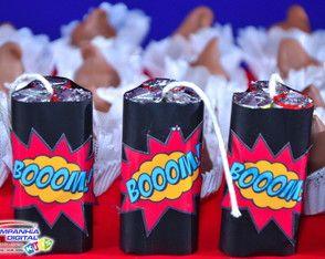 30 Bombas de Baton - Festa Super Heróis