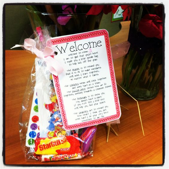 love this back to school poem and goodie bag