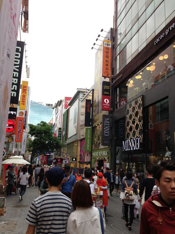 Meongdong. A lot of cosmetics.