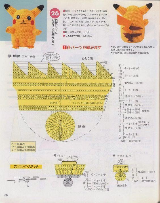 Pikachu En Amigurumi : Blog de Goanna: Munecos Pokemon en Amigurumi Toy free ...