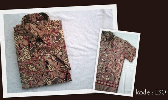 Kemeja Batik L30 | IDR 95.000 | bahan : Semi Sutera | Size M, L, XL | Order : 081333303545