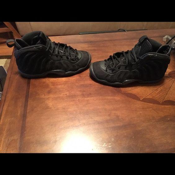 Triple black foams Sz 5 Nike Shoes Sneakers