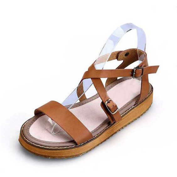 HEE GRAND Gladiator Women Sandals 2016 Summer Shoes Buckle Strap Platform Shoes Woman Plus Size 34-43 Drop Shipping XWZ2238