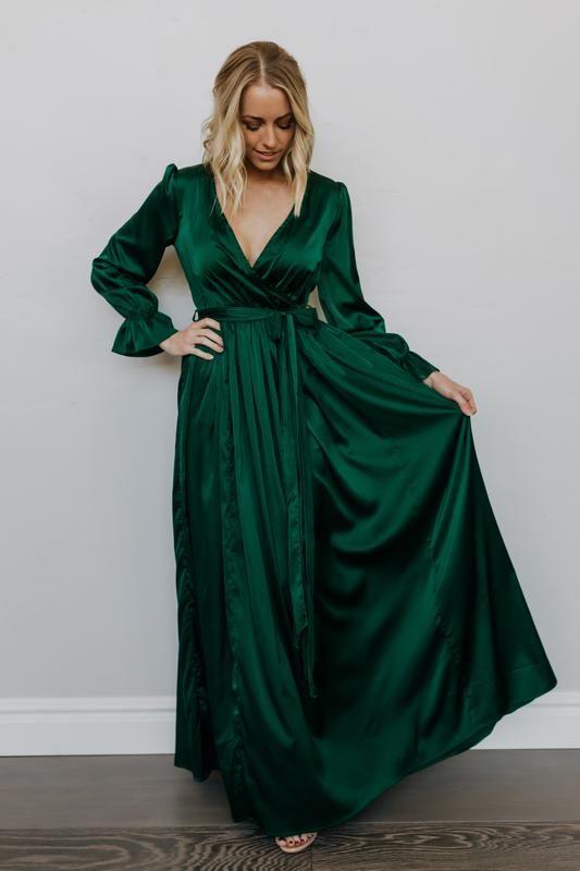 23+ Green long sleeve dress ideas