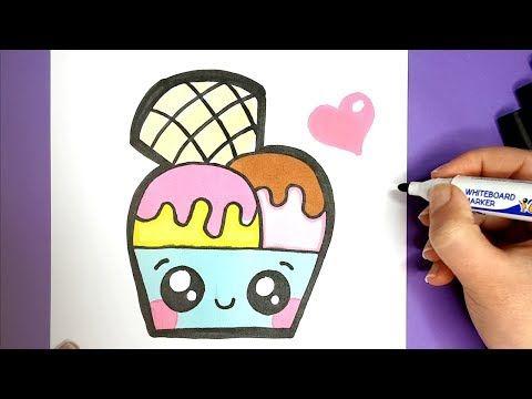 Kawaii Eis Mit Einem Wael Malen Einfach Und Suss Youtube Susse Bilder Zeichnen Kawaii Kritzeleien Bilder Malen Einfach