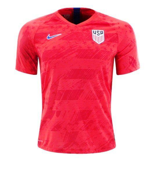 Usmnt Nike 2019 2020 Away Jersey Soccer Red Fan Shirt Fan Shirts Jersey Design Soccer Jersey