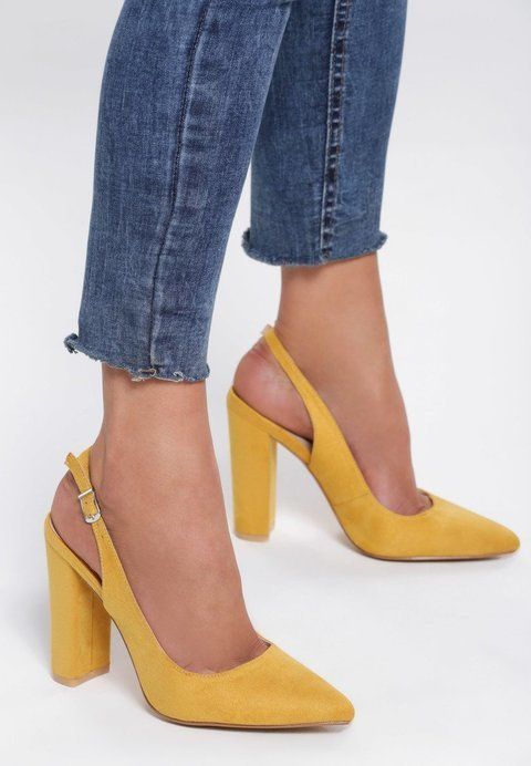 Zolte Sandaly Therm Heels Pumps Shoes