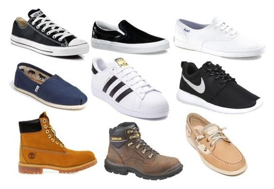 """""""Famous shoes"""" by cin5 on Polyvore featuring Converse, Vans, TOMS, Timberland, adidas, NIKE, Caterpillar, Keds y Sperry"""
