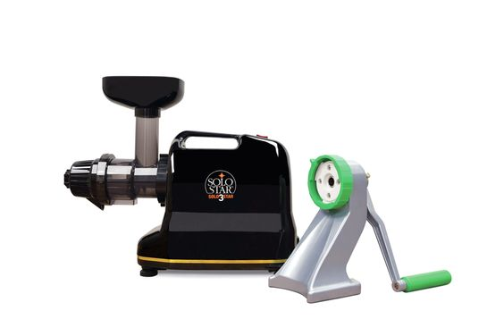 Solostar-3C Convertible Single Auger Juicer with Manual Conversion Kit