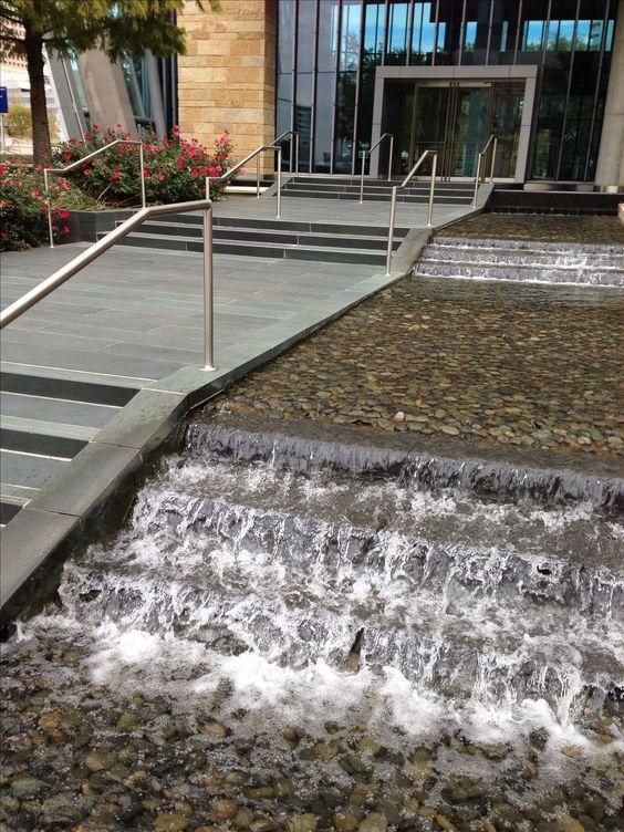 Hunt oil company fountain dallas texas designed by the for Landscaping rocks dallas