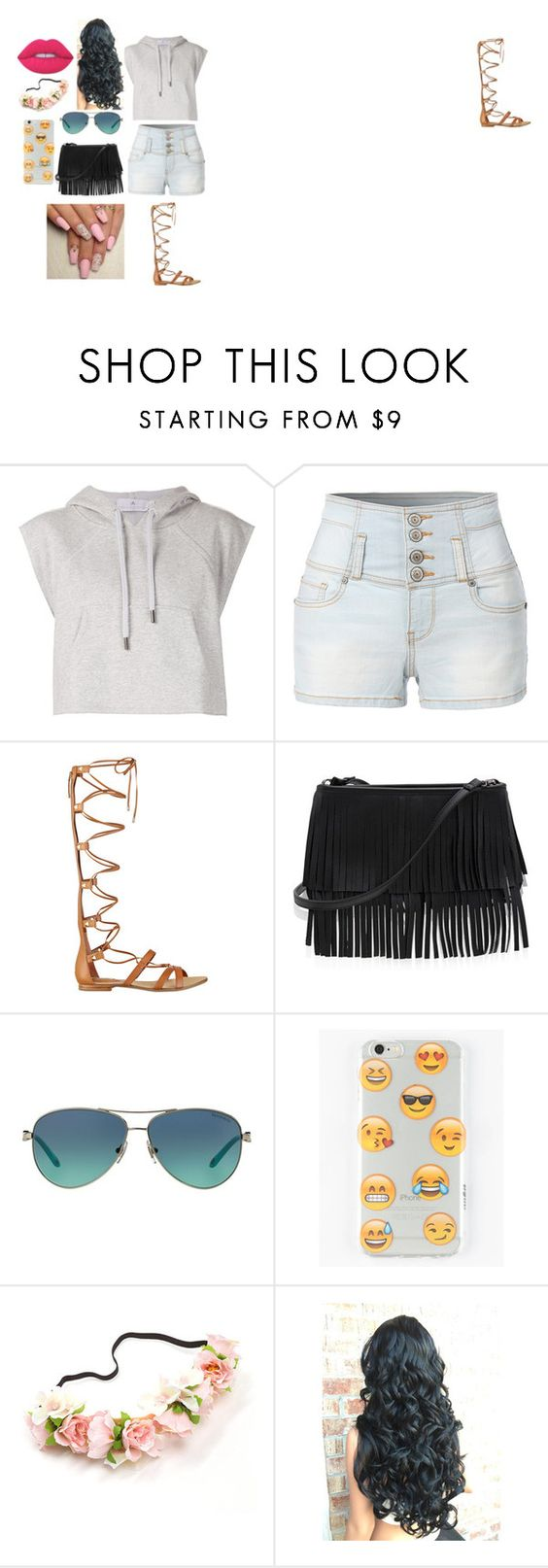 """""""Summer outfits"""" by frouse ❤ liked on Polyvore featuring adidas, LE3NO, GUESS, White House Black Market, Tiffany & Co., Ankit and Lime Crime"""