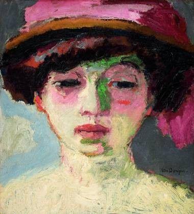 3 -- 1907 Kees van Dongen Le chapeau rose (Fernande Olivier