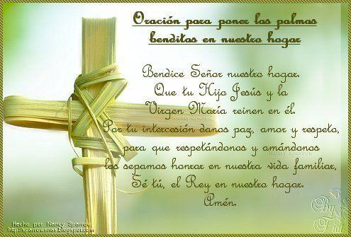 Oracion Para Poner Las Palmas Benditas En Nuestro Hogar