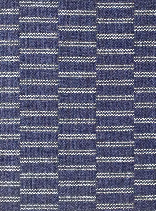 Rowridge Colourway: Face A - Blue-black with black + white marl accent Face B – Black + white marl with blue-black accent 92% pure new wool, 8% nylon