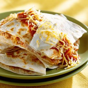 Easy Quesadillas - made in the microwave.  So simple!